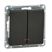 Механизм выключателя 2-кл. W59 с подсвет. 10АХ черн. бархат SchE VS510-251-6-86 Schneider Electric купить по оптовой цене
