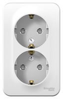 Розетка BLANCA наружная двойная, с заземлением, со шторками, изолирующей пластиной, 16А, 250В, белый Schneider Electric BLNRA011211 ОП IP20 купить в Москве по низкой цене