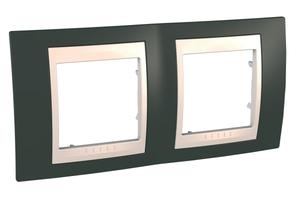 Рамка 2-м Unica Хамелеон горизонт. какао/беж. SchE MGU6.004.571 Schneider Electric 2 поста купить в Москве по низкой цене