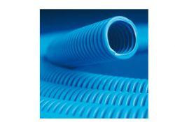 Труба ППЛ гибкая гофрированная д.50мм лёгкая с протяжкой 15м цвет синий 11950 DKC