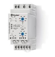 Контрольное реле для 3-фазных сетей, пониженное/повышенное напряжение, обрыв/чередование/асимметрия фаз, контроль нейтрали, настраиваемые диапазоны, выход 2CO 8А, ширина 35мм, степень защиты IP20 FINDER 704284002032 купить в Москве по низкой цене