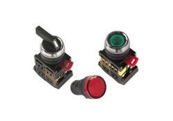 Лампа AD22DS(LED)матрица d22мм красный 12В AC/DC BLS10-ADDS-012-K04 ИЭК