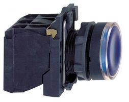 Кнопка синяя с подсветкой 1но/1нз 230В XB5AW36M5 Schneider Electric 22мм возвр цена, купить
