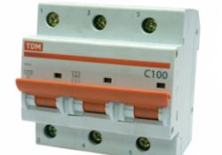 Автоматический выключатель ВА47-100 3Р 63А 10кА х-ка С SQ0207-0075 TDM