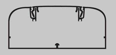 Кабель-канал 90x50мм с крышкой белый 19599 DKC, цена, купить