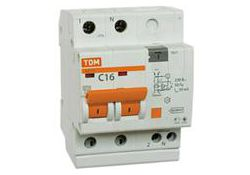 Автоматический выключатель дифференциального тока АД12 2Р 16А 100мА SQ0204-0007 TDM