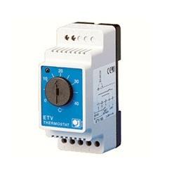 Термостат механический ETV-1991 датчик пола 3.6кВт 16А на DIN-рейку OJ ELECTRONICS цена, купить в Москве