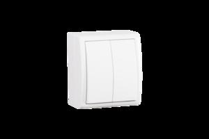 Белый Выключатель 2-кл, IP54, 10А 250В, винт. зажим | 1594398-030 Simon купить по оптовой цене