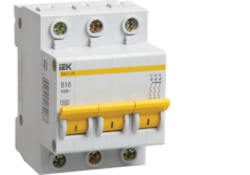 Автоматический выключатель ВА47-29 3Р 63А 4,5кА х-ка В MVA20-3-063-B ИЭК