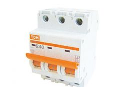 Автоматический выключатель ВА47-63 3Р 40А 4,5кА х-ка С SQ0218-0023 TDM