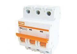 Автоматический выключатель ВА47-63 3Р 63А 4,5кА х-ка С SQ0218-0025 TDM
