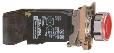 Кнопка красная с возвратом подсветкой 120В Schneider Electric XB4BW3435 22мм 110-120В цена, купить