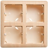Коробка подъемная W59 для наружного монтажа с рамкой 4-местная сосна SchE KP-452-78 Schneider Electric купить по оптовой цене