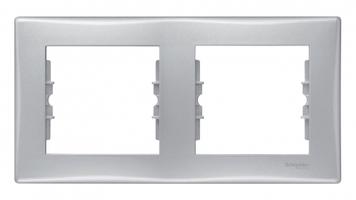 Рамка 2-м Sedna горизонт. алюм. SchE SDN5800360 Schneider Electric 2 поста купить в Москве по низкой цене