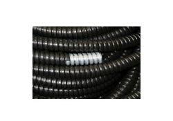 Металлорукав Р3-Ц в ПВХ 15 черный (100 м) RuVinil
