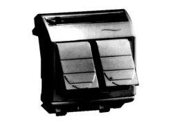 Компьютерная розетка RJ-45 кат.5Е (2 разъема PcNET) черная 2мод 77656N DKC