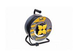 Удлинитель на катушке УК50 с термозащитой 4 места 2Р+PЕ/50метров 3х1,5 мм2 Industrial WKP15-16-04-50 ИЭК