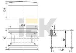 Бокс ЩРН-Пм-6 модулей навесной пластик (24шт) MKP22-N-06-40-24 ИЭК