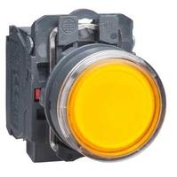 Кнопка желтая с подсветкой XB5AW35M5 Schneider Electric 22ММ 230-240В без фикс 1НО+1НЗ инд купить в Москве по низкой цене
