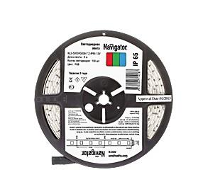 Лента светодиодная 71 428 NLS-5050RGB30-7.2 IP65 12B R5 (уп.5м) Navigator 4670004714287 цена, купить в Москве