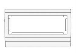 PDA3-45N 120 Рамка-суппорт под 6 модулей 45х45 мм 00565 DKC