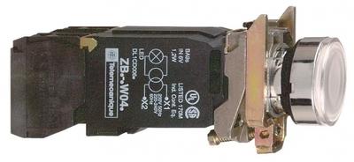Кнопка белая с трансформатором 120В Schneider Electric 22мм 110-120В возвр подсветкой XB4BW3135 цена, купить