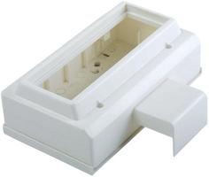 Коробка установочная на 3-поста 45X45 для миниканалов Schneider Electric ETK20597 3 ПОСТА Суппорт кабель-канала Ultra купить по низким ценам
