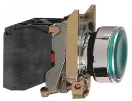 Кнопка зеленая возвратная 22мм 220В с подсветкой Schneider Electric XB4BW33M5 230-240В без фикс 1НO+1НЗ купить в Москве по низкой цене