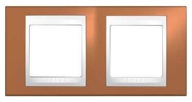 Рамка 2-м Unica Хамелеон горизонт. оранж./бел. SchE MGU6.004.869 Schneider Electric 2 поста купить в Москве по низкой цене