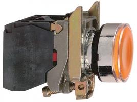 Кнопка желтая возвратная 22 мм 24В с подсветкой Schneider Electric XB4BW35B5 без фикс 1НO+1НЗ купить в Москве по низкой цене