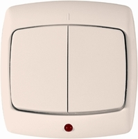 РОНДО С/У Сл. кость Переключатель 1-клавишный с подсветкой 10А (в сборе)   VS6U-120-SI Schneider Electric купить по оптовой цене
