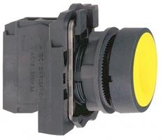 Кнопка желтая без фиксации 22 мм 1но Schneider Electric С ВОЗВРАТОМ XB5 купить в Москве по низкой цене