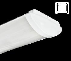 Светильник ЛПО-46-2х36-013 Luxe овал опаловый ЭПРА 1056236013 Ардатовский СТЗ, цена, купить