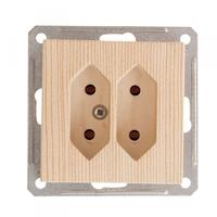 Розетка 2-м СП W59 6А IP20 без рамки кл.2 под пл. вилки сосна SchE RS6-253-7-86 Schneider Electric купить по оптовой цене