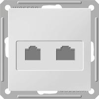 Розетка информационная + телеф. 2-м СП W59 CAT.5E без рамки мат. хром SchE RSI-251TK5E-5-86 Schneider Electric купить по оптовой цене