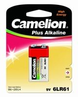 Батарейка 9В 26.5мм четырехгранник 6 am 6f22 щелочная марганцевая (алкалиновая) Camelion 1655 купить по оптовой цене