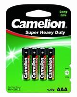 Батарейка 1.5В 44.5мм мизинчиковая aaa/am 4 r03 cолевая (углеродно-цинковая) Camelion 1668 купить по оптовой цене