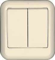 ПРИМА О/У Сл. кость Выключатель 2-клавишный 6А, монтажная пластина (в сборе) (индивид.упак.) | A56-029M-SI Schneider Electric купить по оптовой цене
