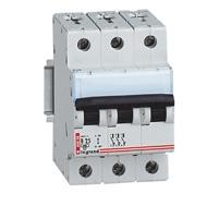 Выключатель автоматический трехполюсный DX3-E 6000 20A C 6кА   003452 Legrand купить в Москве по низкой цене