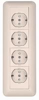 Розетка ОУ С ЗК 4 Я монтажная плата белая RA16-411M-BI Schneider Electric, цена, купить