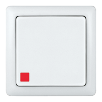 ХИТ Выключатель одноклавишный наружный с индикатором белый VA16-137-B Schneider Electric, цена, купить