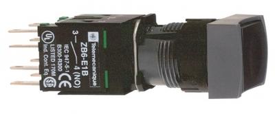 КНОПКА 16ММ ЧЕРНАЯ С ВОЗВРАТОМ КВАДРАТНАЯ | XB6DA25B Schneider Electric цена, купить