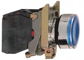 Кнопка синяя с подсветкой 24В XB4BW36B5 Schneider Electric 22ММ ВОЗВ без фикс 1НO+1НЗ купить в Москве по низкой цене