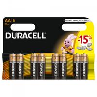 Батарейка Щелочнная (Алкалиновая) (AA) LR6-8BL BASIC | C0037387 81242477 Duracell купить по оптовой цене