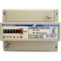 Счетчик электроэнергии ЦЭ6803В 1 230В 1-7,5А 3ф. 4пр. М7 Р31 трехфазный однотарифный, 1(7.5), кл.точ. 1.0, D, ЭМОУ 101003000000000 Энергомера, цена, купить