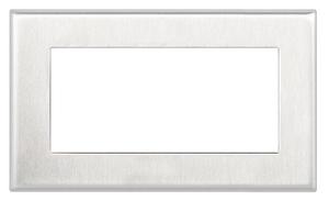 Рамка двойная 232D, нержавеющая сталь 4911002550