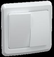 Выключатель 2-кл. СП Вега 10А IP20 ВС10-2-0-ВБ бел. IEK EVV20-K01-10-DM (ИЭК)