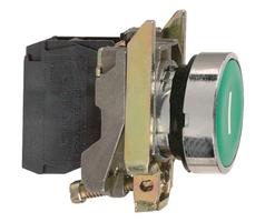 Кнопка зеленая без фиксации 22 мм 1но Schneider Electric XB4BA31 С ВОЗВРАТОМ подсветки купить в Москве по низкой цене