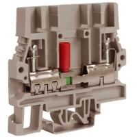 Зажим винтовой 6мм.кв тестовый с разъединителем бежевый SCB.6 ZSB200 DKC, цена, купить