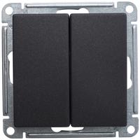 Механизм переключателя 2-кл. W59 10АХ черн. бархат SchE VS610-256-6-86 Schneider Electric купить по оптовой цене